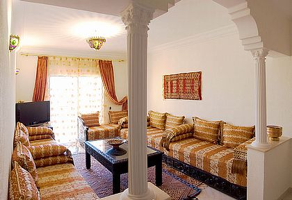 furnished in the traditional Berber style